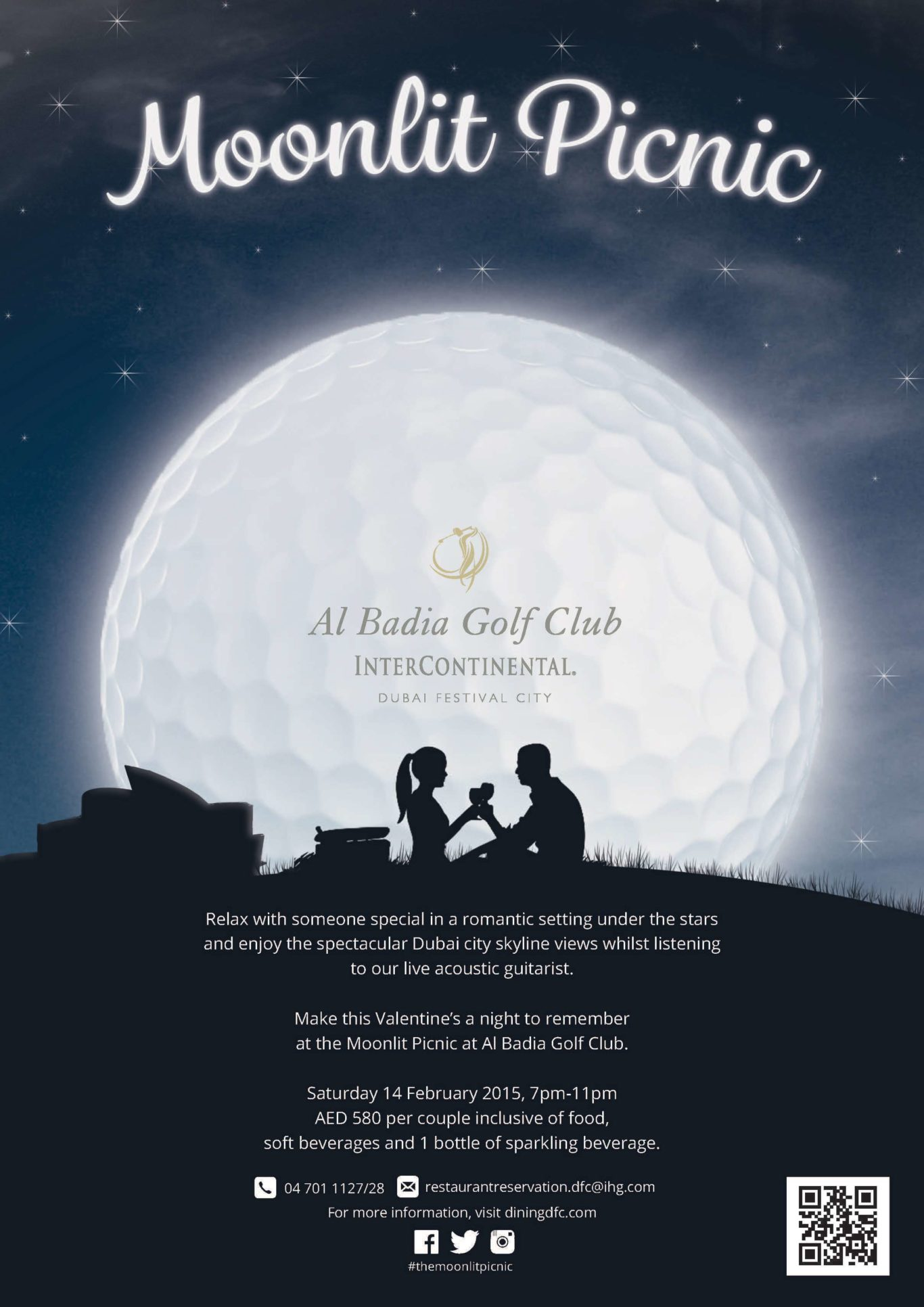 Al Badia Golf Club Moonlit Picnic